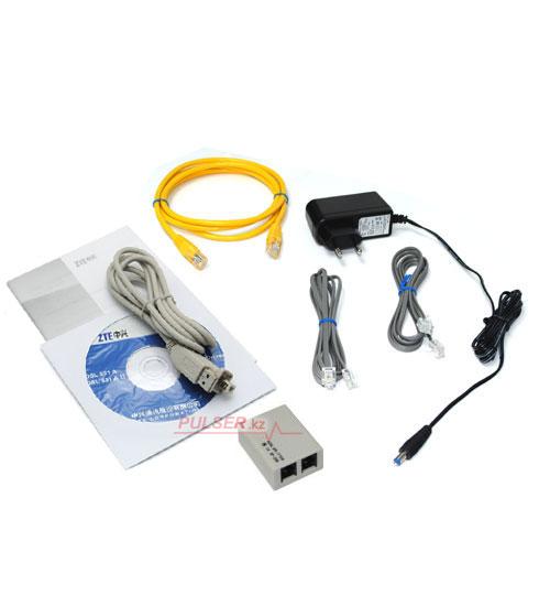 ADSL-модем ZTE 831AII предназначен 0. Оптовая. Комплектация.